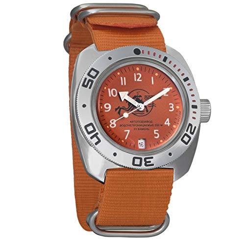 Vostok Amphibian Scuba Dude Collection - Reloj de Pulsera automático para Hombre, diseño de Buzo Militar, con Caja de anfibia, Color Negro