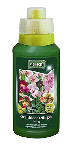Plantop Orchideendünger, Flüssige Spezialnahrung für alle Orchideenarten 250 ml, Pflanzendünger mit Dosierhilfe