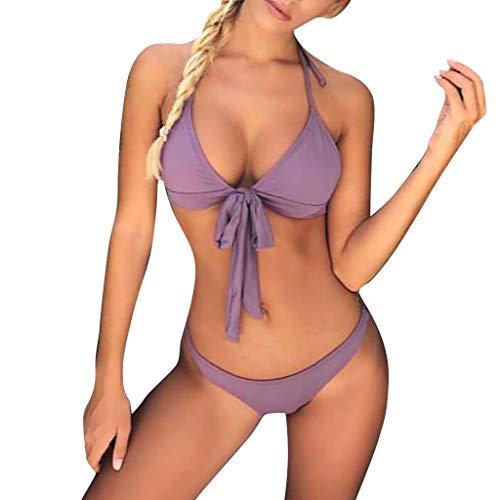 Dasongff dames bikini set sexy push up driehoek bh hipster micro slip
