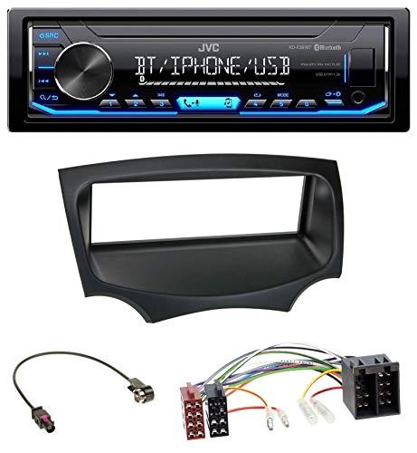 caraudio24 JVC KD-X351BT AUX USB Bluetooth MP3 Autoradio für Ford Ka (RU8, ab 2008)