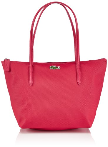 Lacoste Damen MEDIUM SMALL SHOPPING BAG Shopper, Pink (VIRTUAL PINK 185), 24x25x14 cm