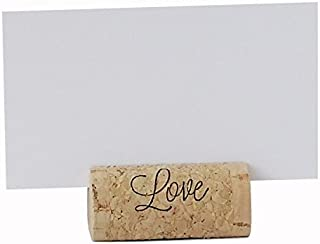 EMazing Goods Wine Cork Place Card Holders Custom Cork Card Holders Love Set of 25 Includes Place Cards Escort Card Rustic Wine Cork Table Décor Wine Theme Vineyard Wedding Cork Placecard