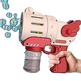 Khosd Máquina De Burbujas, Pistola De Pompas De Jabón con Luz Y Música, Pistola De Burbujas De Agua, Máquina De Burbujas Automática Niños, Juguetes Y Regalos para Niños Y Niñas