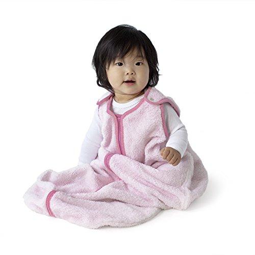 baby deedee Sleep Nest Teddy Baby Sleeping Bag, Pink, Large (18-36 Months)