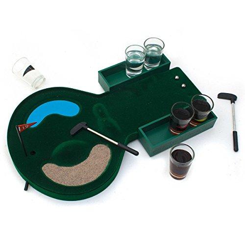 GOODS+GADGETS Golf Trinkspiel - Minigolf Saufspiel Drinking Golf Partyspiel