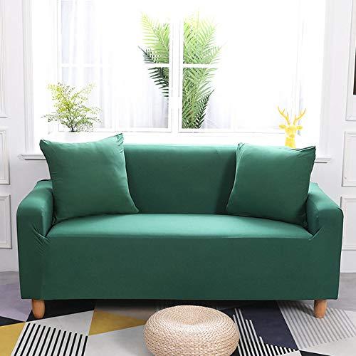 KTUCN Funda elástica para sofá para Sala de Estar, Funda elástica para Muebles, Funda Universal para sofá, Funda para sofá, 1/2/3/4 plazas, Verde negruzco, 3 Seater 190-230cm