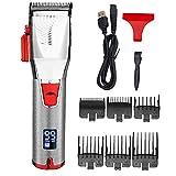 NiceJoy Herramientas de peluquería USB de Cortar el Pelo eléctrico Barba Trimmer Set máquina de Afeitar Recargable del Pelo y estética Kit Impermeable para los Hombres de Plata