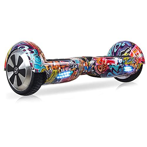 M MEGAWHEELS Hoverboard, Patinete electrico Auto Equilibrio 6.5 Pulgadas con Bluetooth, Fuerte Dual...