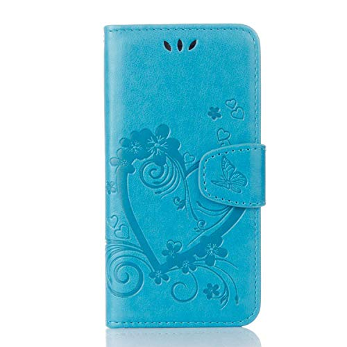iPhone 6 Plus/iPhone 6S Plus Hülle, Bear Village® PU Leder Flip Tasche, Schutzhülle mit Ständer Funktion und Card Holder, Handyhülle für Apple iPhone 6 Plus/iPhone 6S Plus, Blau
