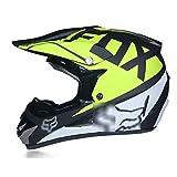Casco de moto de campo traviesa con gafas + guantes + juego de máscaras, ventilaciones, desmontable...