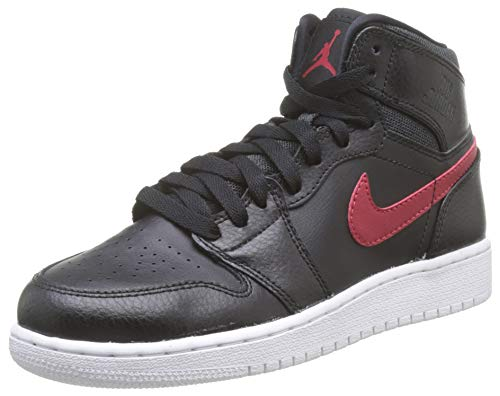 Nike Air Jordan 1 Retro High BG, Zapatillas de Baloncesto para Niños, Negro/Rojo (Black/Gym Red-Black-White), 36 1/2 EU