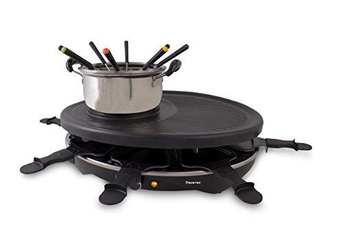 Suntec Wellness RAC-8458 raclette-Fondue-Set fonduta, 2 W, Nero