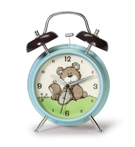 Nici 35607 - Wecker Bär graubeige, 9.5 x 16 cm