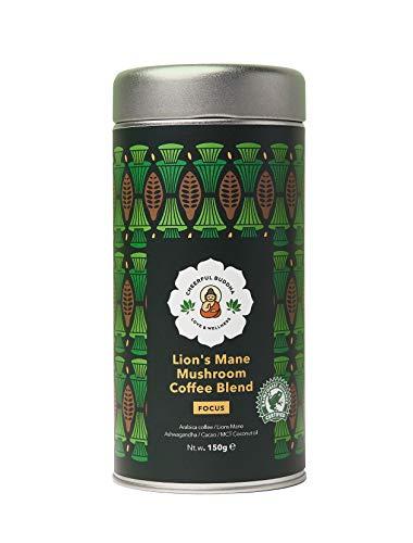Cheerful Buddha Löwenmähne Pilz-Kaffeemischung - 100% Natürlicher Premium-Pilz Kaffee ohne Konservierungsstoffe - RFA-Zertifizierter ohne GVO - Veganer Adaptogener Pilzkaffee –