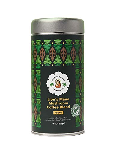 Cherful Buddha Lion's Mane Paddestoel koffie Mengsel – 100% Natuurlijke Premie Mushroom koffie zonder…
