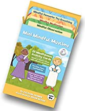 Mini Mindful Muslims Flashcards 25 Pack Islamic Mindfulness Activities for Calm, Positivity, Focus.