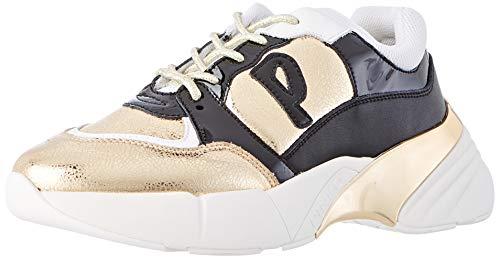Pinko Damen Olivo Slip On Sneaker, Mehrfarbig (ORO/Nero Hz2), 36 EU