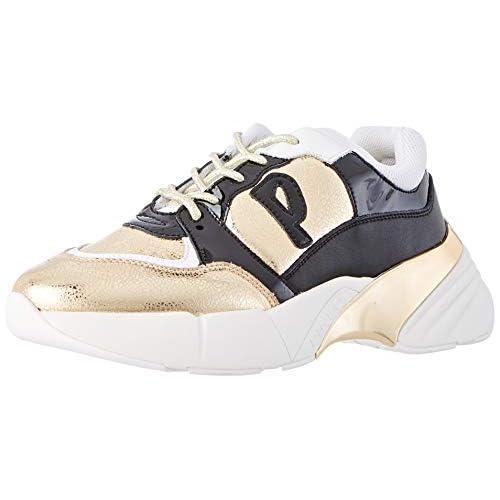 Pinko OLIVO, Sneaker Infilare Donna, Multicolore (Oro/Nero Hz2), 36 EU