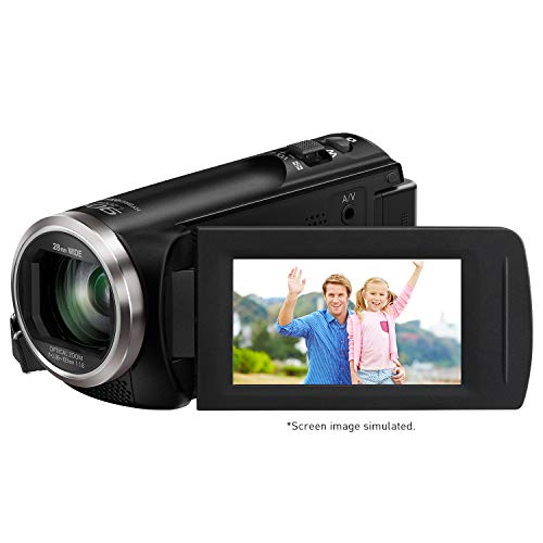 Panasonic Full HD Video Camera Camcorder HC-V180K, 50X Optical Zoom, 1/5.8-Inch BSI...