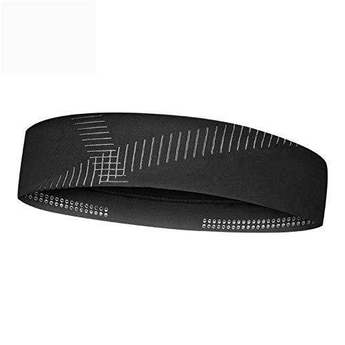 YIJIAHUI Diadema deportiva deportiva con absorción de sudor, banda reflectante para fitness, yoga, correr (tamaño: 23,5 x 5,5 cm; color: negro)