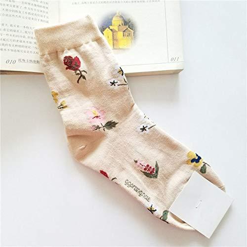 Primavera y otoño Ocio Mujeres Coreanas Dibujos Animados Fruta Animal Algodón Calcetines Cortos 2 Pares-a14