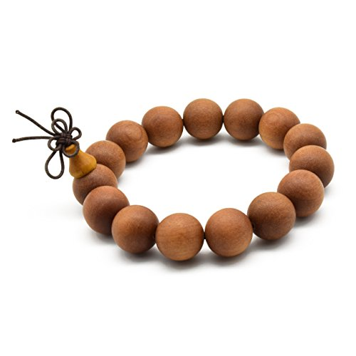 Zen Dear Unisex Teak Wood Prayer Beads Buddha Buddhist Beads Japa Mala Necklace Bracelet Beads
