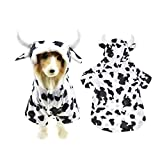 Halloween Dog Shark Costume Outfits for Large Dog Winter Fleece Puppy Jacket Coat Hoodie Funny Dog Clothes Golden Retriever (XXXX-Large, White)