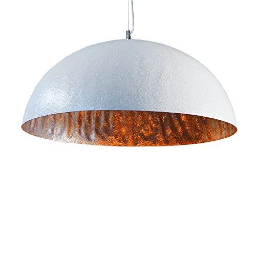 Riess Ambiente Lampadario Design, Modello Glow, 50 cm, Colore: Bianco/Argento