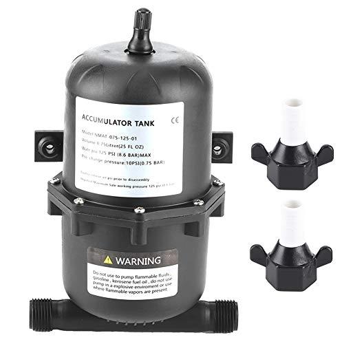 Tanque de agua presurizado, tanque de presión acumulador Control de flujo de bomba de agua 0,75 L...