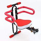 Kinder-Fahrradsitz für die Vorderseite, Halterung für Fahrradkindersitz, Schnellspanner, Vordersitz, Kindersitz, Kindersitz, Fahrrad-Vordersitz mit Armlehne (Farbe: Rot)