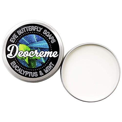 Deocreme Eucalyptus & Mint - Regular Size 85 g | aluminiumfrei, Duft nach Eukalypthus und Minze, vegan
