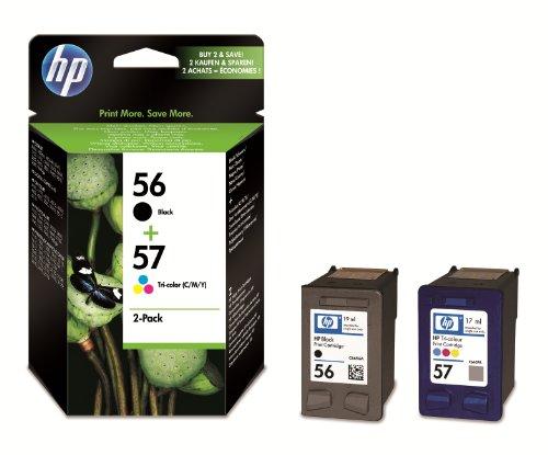 HP 56/57 Combo Pack Cartouche d'encre d'Origine 1 x Couleur (Cyan / Magenta / Jaune) 500 pages