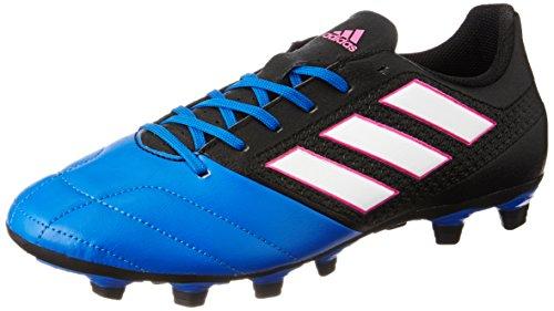 adidas Herren Ace 17.4 FxG Fußballschuhe, Schwarz (Core Black/Footwear White/Blue), 45 1/3 EU