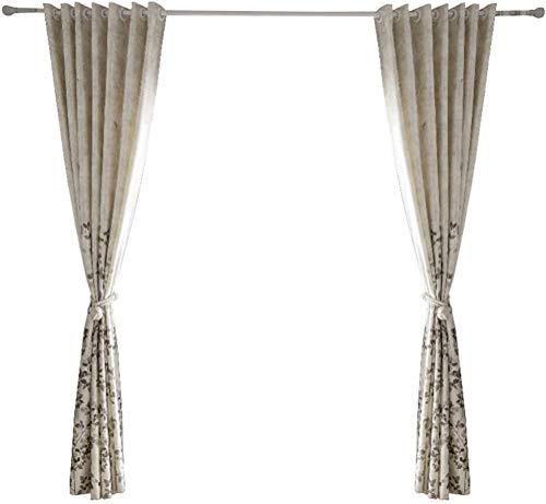 RR & LL gordijnen eenvoudige en frisse gordijnen grijze bladen gordijnen Kant-en-klaar verduistering slaapkamer gordijnen kamervloeren Home gordijnen (grootte: breedte 150 hoogte 270 cm (gordijn)) Width 250*height 270cm (curtain) 2