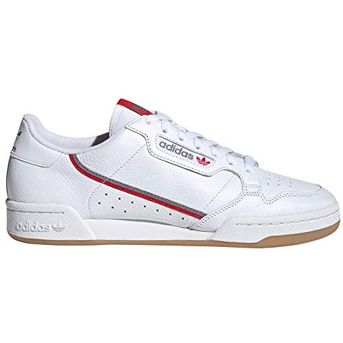 adidas Continental 80 Blancas, Zapatillas Deportivas para Mujer. Sneaker. Tennis Originals Authentic (38.5 EU, Cloud White - Grey Three - Candy Sole pr)