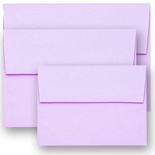 Shipped Free 50 Boxed 70lb A7 Light Lavendar 5-1/4 X 7-1/4 Envelopes for 5 X 7 Greeting Cards Invitation Photos Birth Announcement Shower Christening Thank Wedding By Envelopegallery