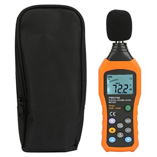 Medidor de ruido digital, medidor de nivel de sonido, alto rendimiento Práctico Monitoreo de empresas Máquinas en el lugar de trabajo para sistemas de alarma Instalación de audio de uso