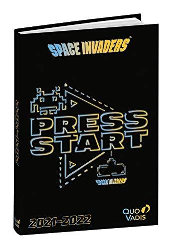 Quo Vadis - Agenda escolar, Sep. 2021 hasta Junio 2022, 1 Día por página 12x17cm SPACE INVADERS Space