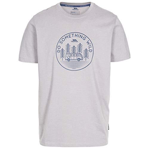 Trespass Bothesford T-Shirt à séchage Rapide pour Homme M Gris tempête chiné