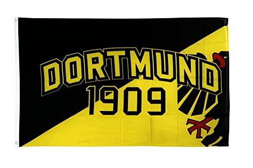 Flaggenfritze Fahne/Flagge Dortmund 1909 Adler + gratis Sticker