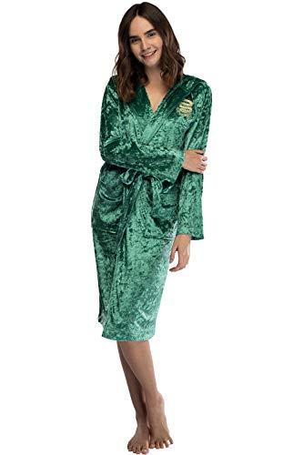 Harry Potter mujeres túnica de terciopelo Casa Slytherin de gran tamaño