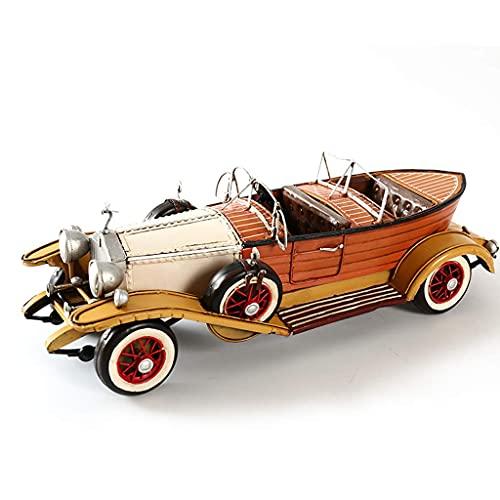 XHAEJ Kompatibel mit Rolls-Royce Oldtimer Car 1932 Modell Retro Eisen Handwerk Restaurant Bar Dekoration Mode Dekoration Dekoration Geschenksammlung (Color : Brown)