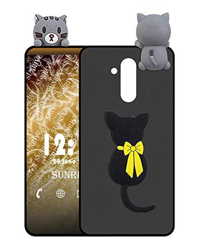 Sunrive Für Ulefone Power 3 / 3S Hülle Silikon, Handyhülle matt Schutzhülle Etui 3D Hülle Backcover für Ulefone Power 3 / 3S(W1 Katze) MEHRWEG+Gratis Universal Eingabestift