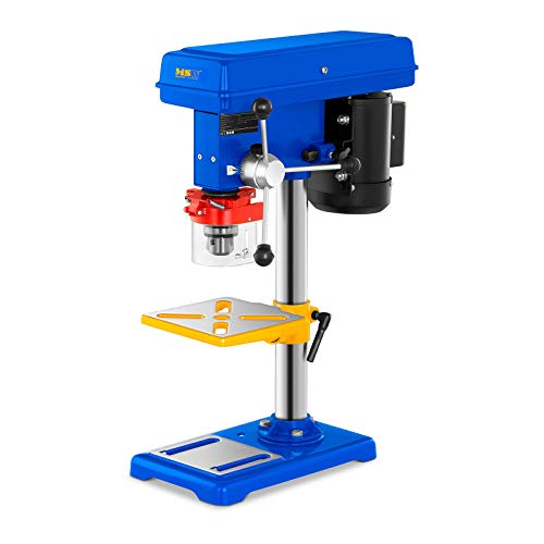 MSW Säulenbohrmaschine Tischbohrmaschine MSW-DP500 (500 W, 9 Geschwindigkeiten bis 2.350 U/min, Bohrfutter: 3-16 mm, Bohrtiefe: 50 mm, Arbeitsfläche: 167 x 167 mm)