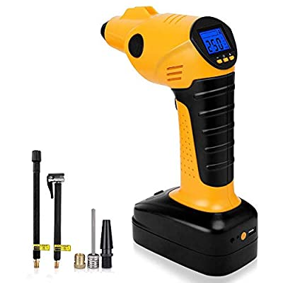 YFANG Cordless Tire Inflator Portable Air Compressor