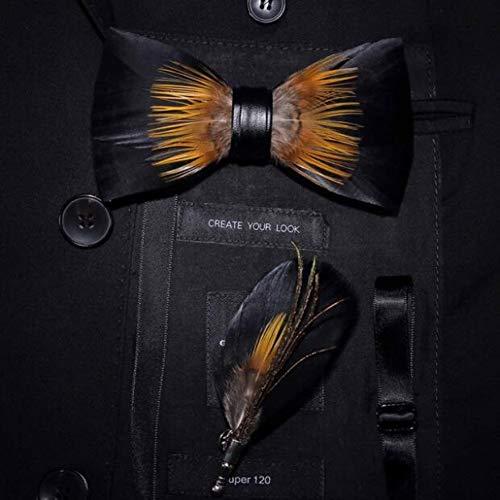 DYDONGWL halsbanden, prachtige handgemaakte strik broche pin set met geschenkdoos voorgeknoopte mannen stropdas strik voor bruiloft partij