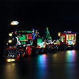 YBLOC Kit Di Illuminazione A LED Per Il Treno Delle Vacanze Invernali Lego Creator, Spettacolo Di Luci Compatibile Con Lego 10254 (Non Include Il Set Di Lego)