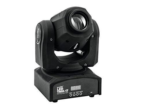 Eurolite LED TMH-17 Moving-Head Spot | Handliches Spotlight mit 30-Watt-LED, Gobos und Farbrad | 7 dichroitische Farben plus weiß | Strobe-Effekt mit variabler Geschwindigkeit | Manueller Fokus