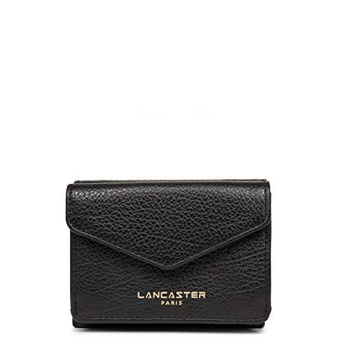 Lancaster Geldbörse Mini Paris Dune Damen Leder gehämmert schwarz L 10xA 8xT 2,5cm