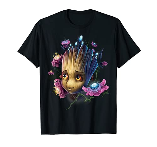 Marvel Guardians Of The Galaxy Groot Flowers Graphic T-Shirt T-Shirt